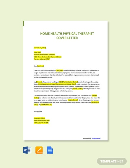 Physical Therapist Cover Letter from images.template.net
