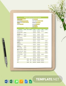 Building Construction Project Budget Template