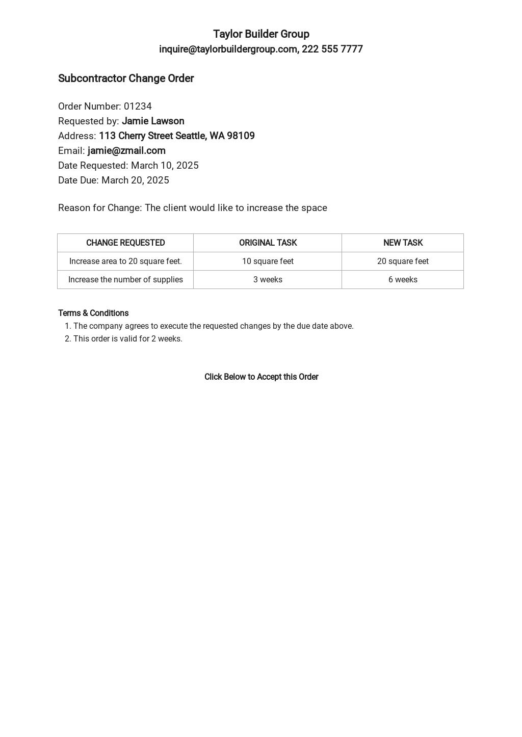 Subcontractor Change Orders Template.jpe