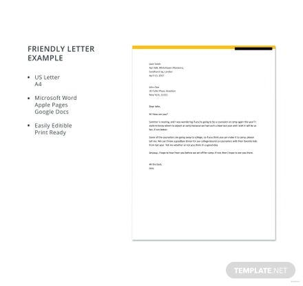 Sample friendly letter to a friend template in microsoft word apple sample friendly letter to a friend template in microsoft word apple pages google docs template spiritdancerdesigns Image collections