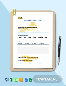 Job Work Order Form Template