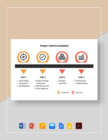 Project Service Roadmap Template
