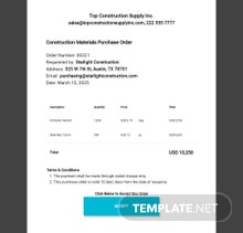 Free Simple Order Form Template