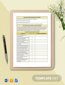 General Fire Safety Inspection Checklist Template