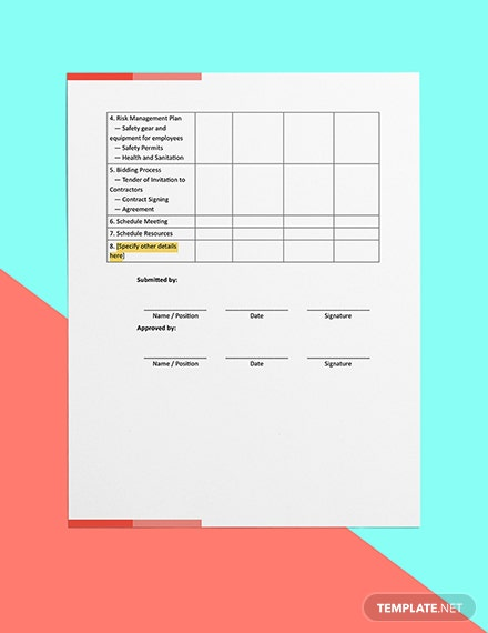 Construction Project Planning Checklist Download