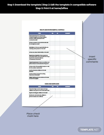 Construction Safety Inspection Checklist download