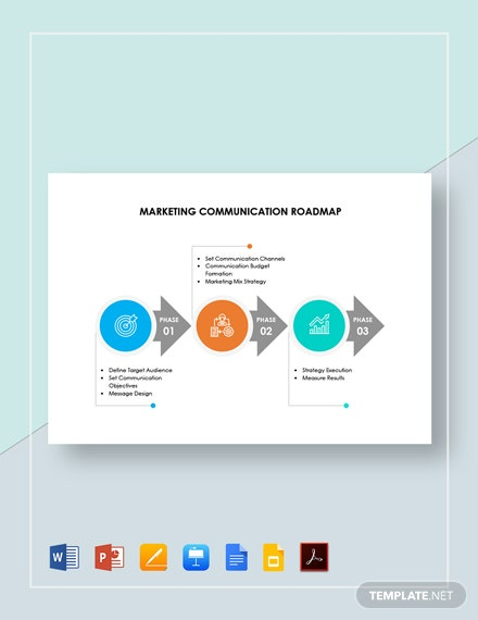Marketing Communication Roadmap Template