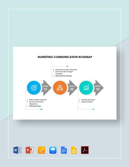 Marketing Communication Roadmap Template