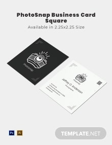 Photo-snap Business Card Square Template