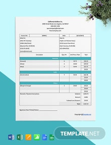 Free Professional Construction Invoice Template