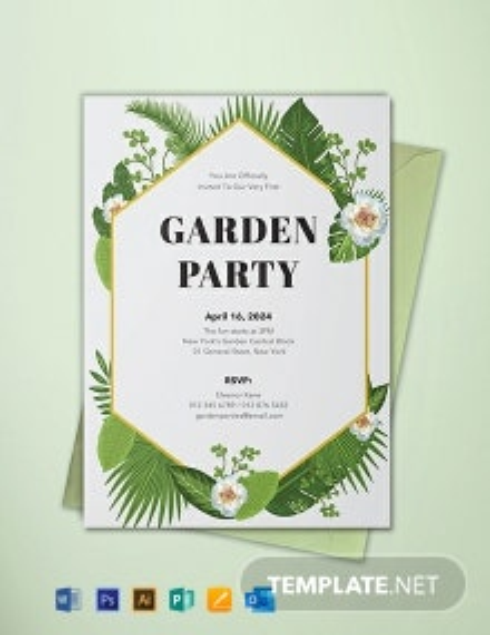 Free Garden Party Invitation Template