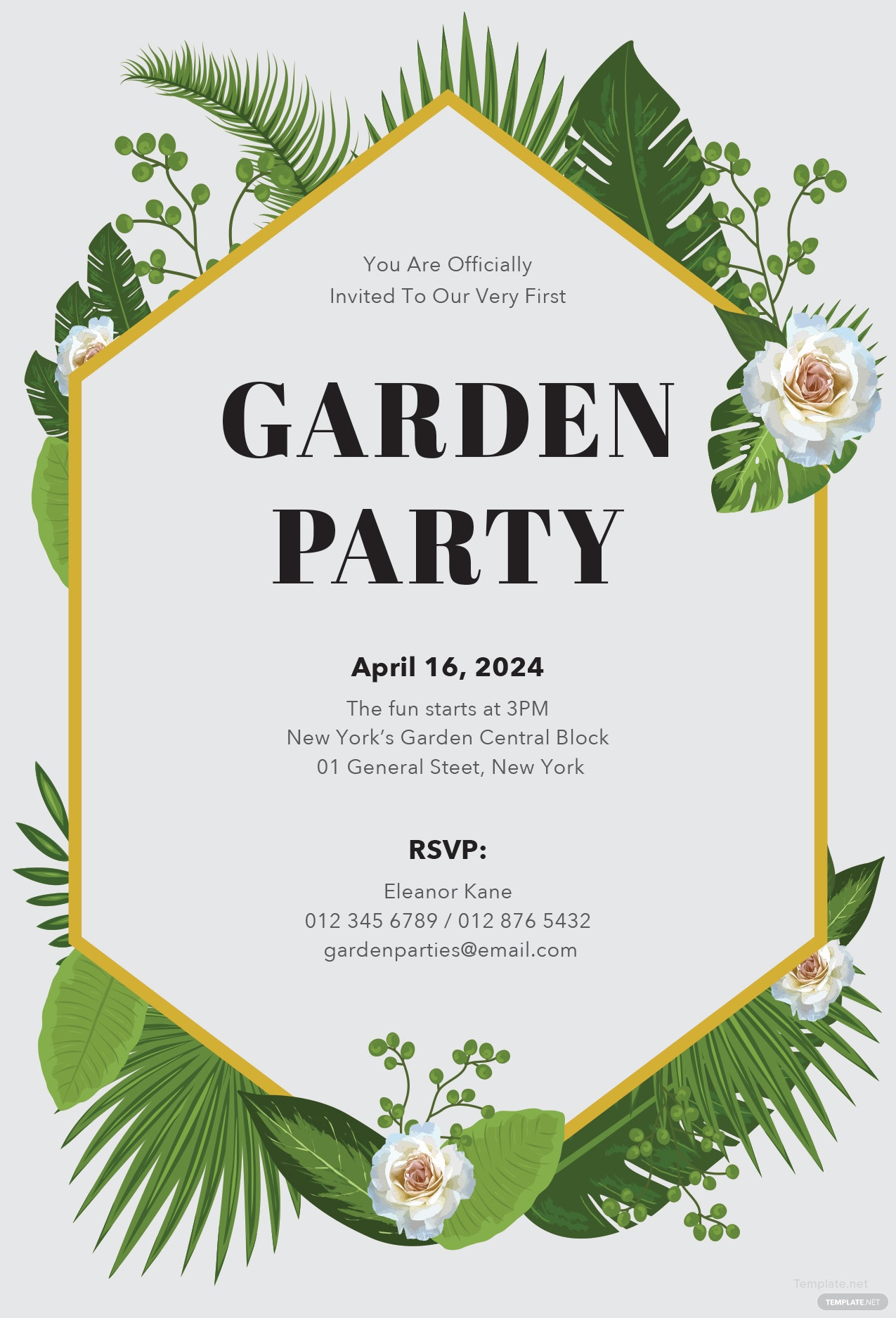 Free Garden Party Invitation Template in Microsoft Word, Microsoft ...