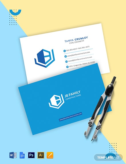 Civil Engineering Business Card Template