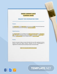Request for Information (RFI) Form Template