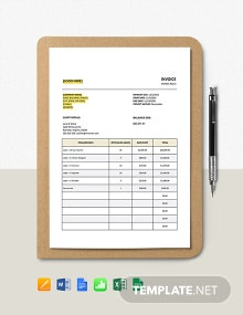 Service Tax Calculation Invoice Template