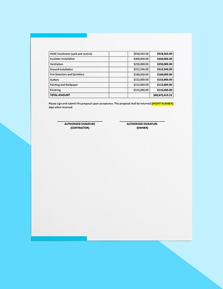 Building Construction Cost Estimate Example