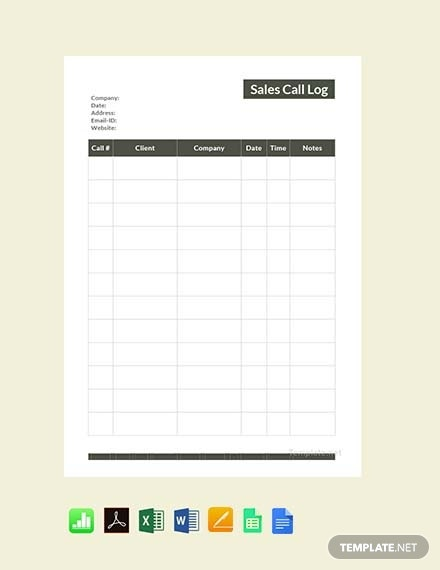 This is an image of Printable Call Log Template intended for vehicle maintenance log