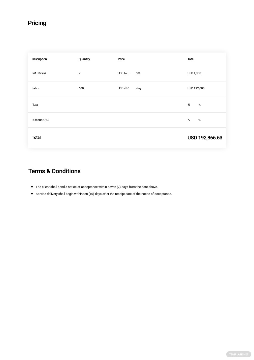 Free Simple Construction Quotation Template 1.jpe