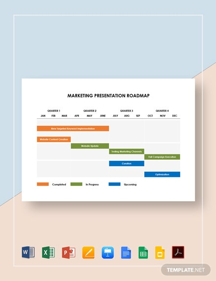 Marketing Presentation Roadmap Template