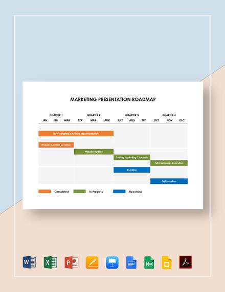 Marketing Presentation Roadmap Template