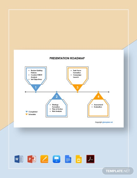 Free Sample Presentation Roadmap Template