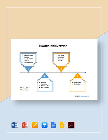 Free Sample Presentation Roadmap Template