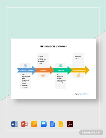 Free Simple Presentation Roadmap Template