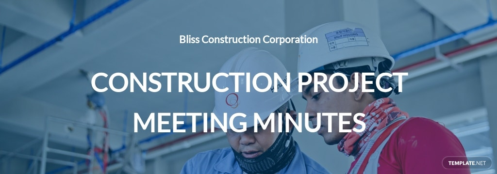 Blank Construction Meeting Minutes Template