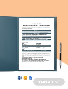 Construction Work Incident Report Template