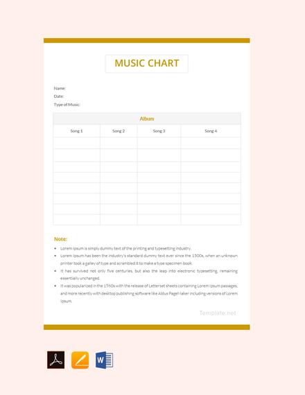 Free Music Chart Template