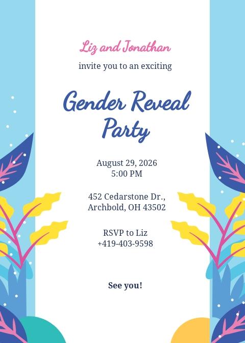 Free Gender Reveal Invitation Template.jpe