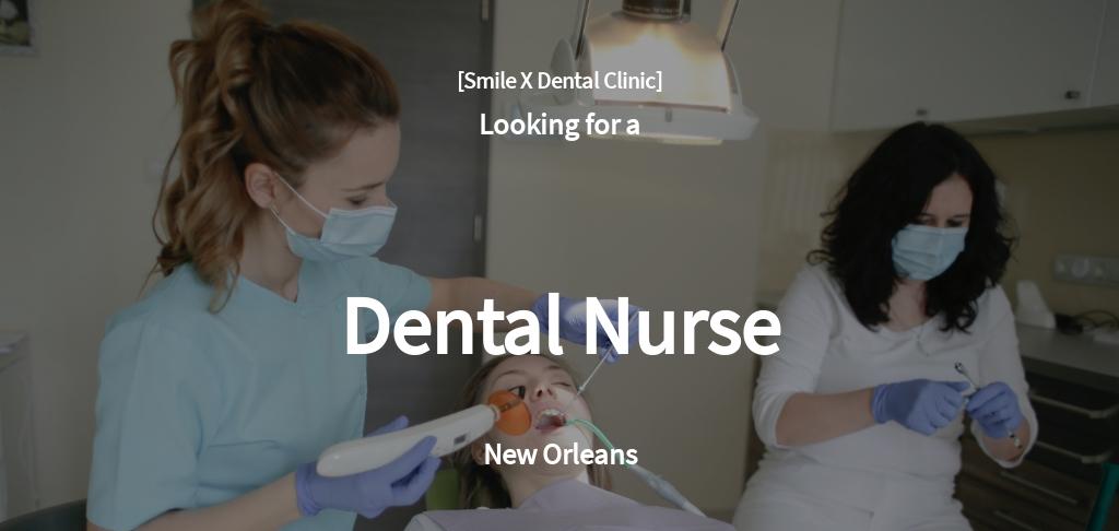 Dental Nurse Job Ad and Description Template