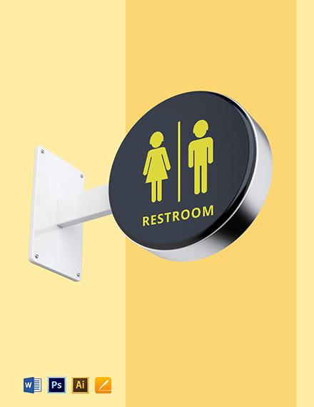 Restroom Sign Template