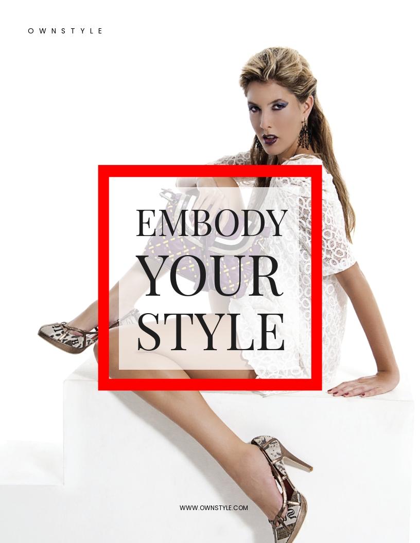 Printable Fashion Flyer Template