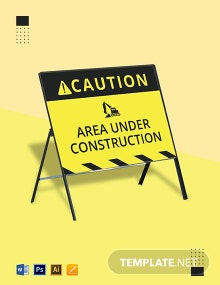 Under Construction Sign Template