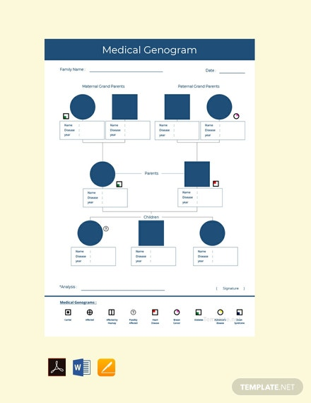 Free-Medical-Genogram-Template