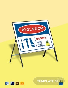 Free Tool Room Sign Template