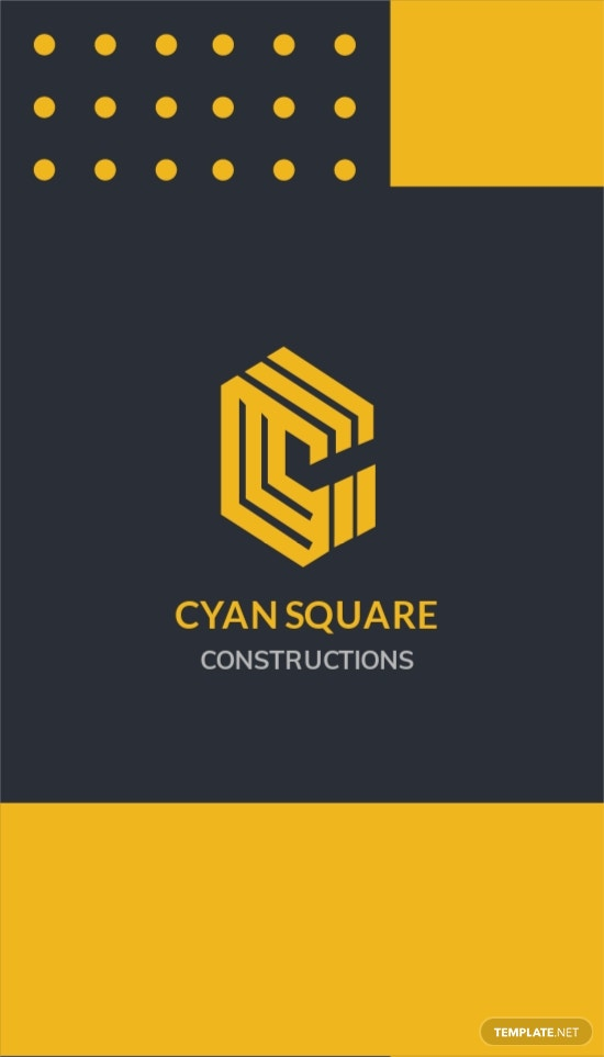 Commercial Construction Worker Business Card Template.jpe
