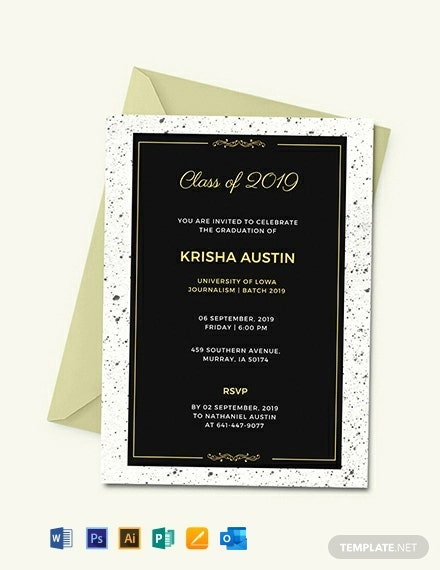 Free Graduation Announcement Invitation Template