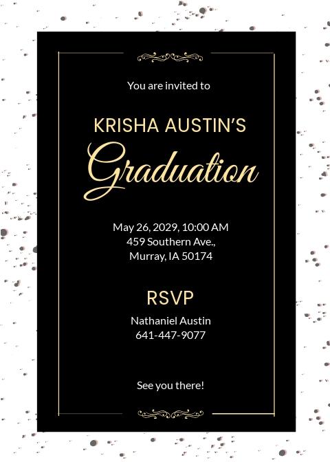 Free Graduation Announcement Invitation Template