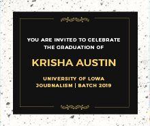 Graduation Announcement Invitation Template