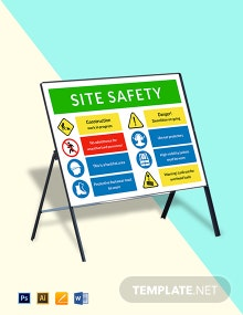 Construction Site Safety Sign Template