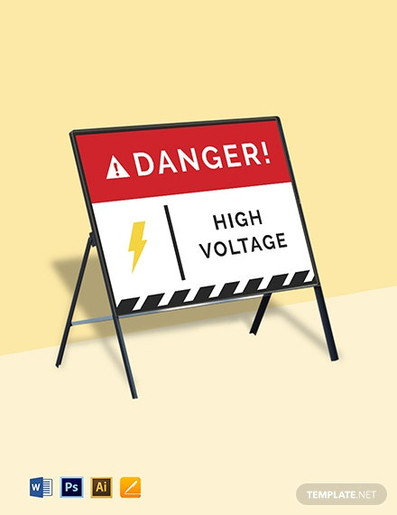 Danger Electricity Sign Template