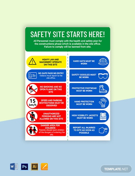 Caution - Health and Safety Sign Template