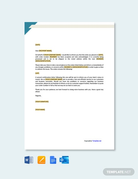 Free Acknowledgement Letter for Business