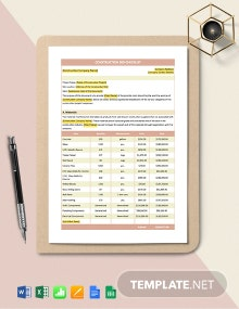 Construction Bid Checklist Template