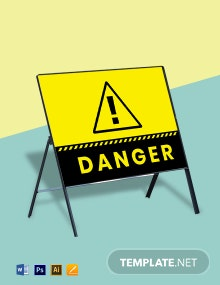 Free Danger Sign Template