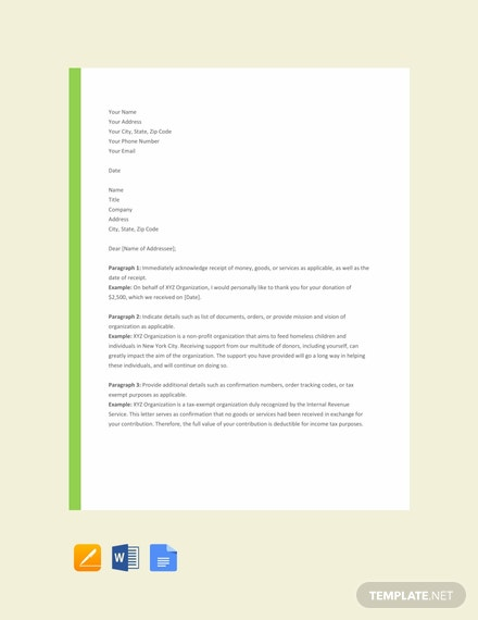 29  Free Acknowledgement Letter Templates