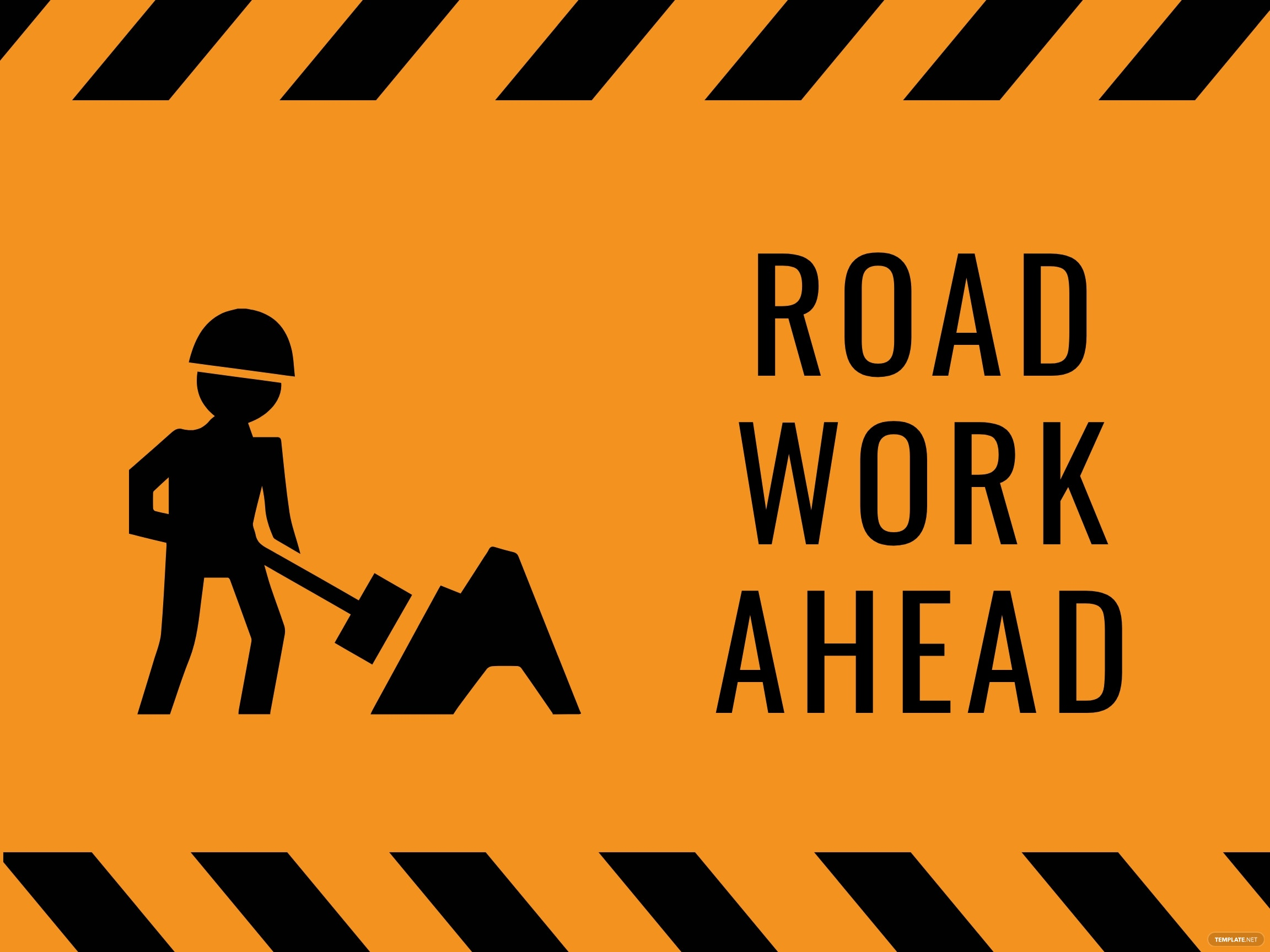 Work Zone Highway Construction Sign Template
