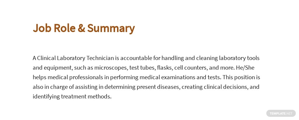 Free Clinical Laboratory Technician Job Description Template 2.jpe